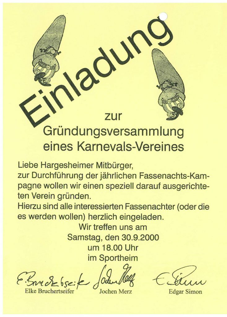 Flyer Einladung Gründung